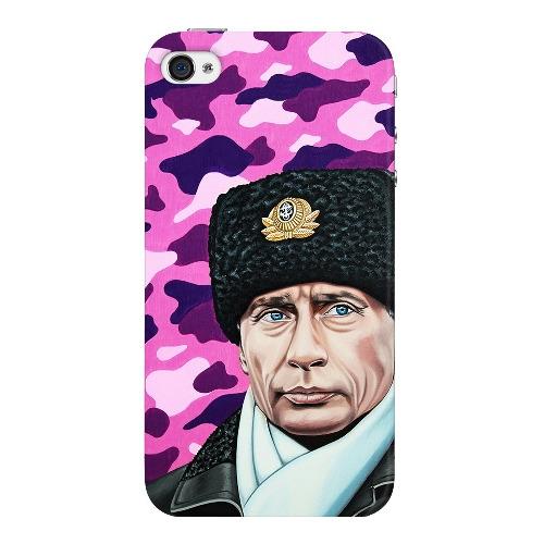 Накладка пластиковая Deppa Art Case iPhone 4/4S Person Путин Шапка
