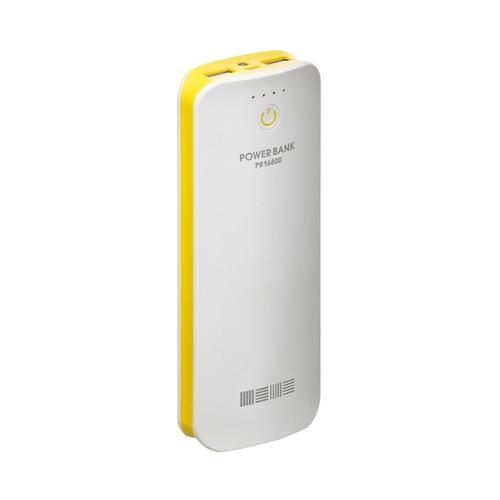 Внешний аккумулятор InterStep PB16800BR 16800mAh White/Yellow