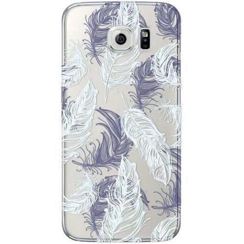 Накладка пластиковая Deppa Art Case Samsung Galaxy S7 Edge Boho Перья