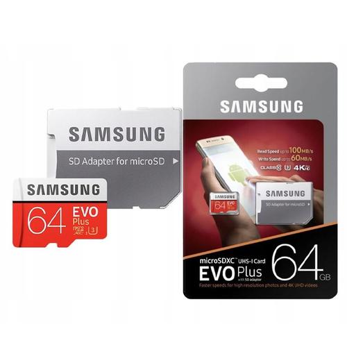 карта памяти Samsung microSD 64Gb (class 10) фото