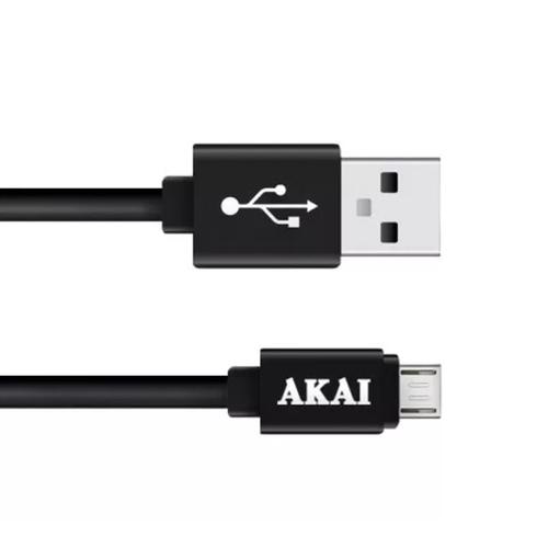 USB кабель Akai CE-410 micro USB двухсторонний 1m Black