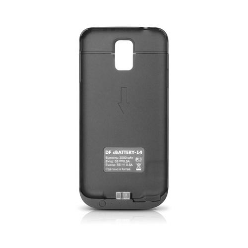 Накладка-аккумулятор DF-14 Galaxy S5 3000mAh Black