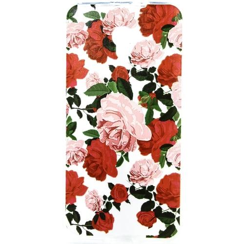Накладка силиконовая Goodcase ZTE Blade V7 Красные розы