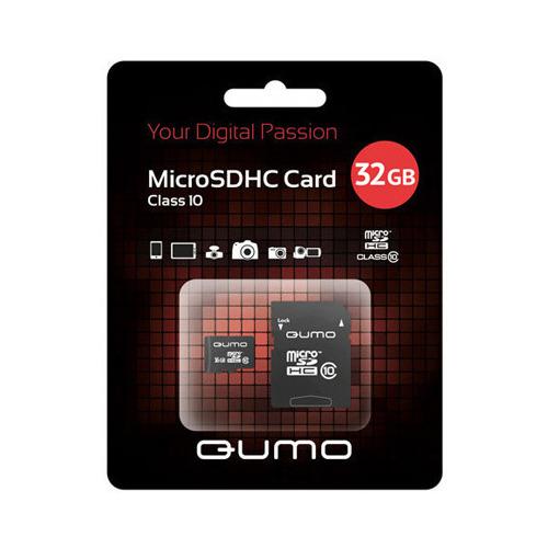 Карта памяти на 32 Гб Qumo microSD (class 10)