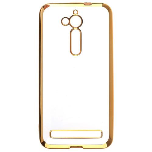 Накладка силиконовая skinBox chrome  Asus ZenFone Go ZB500KL Gold