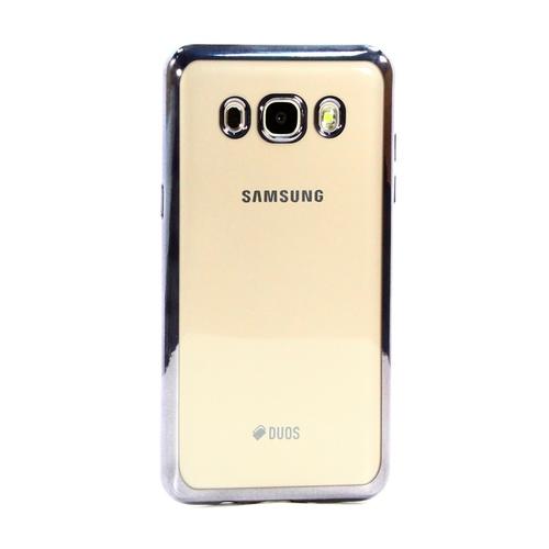 Накладка силиконовая skinBox chrome Samsung Galaxy J5 (2016) Dark Silver