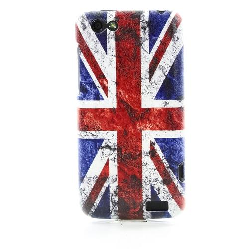 Накладка пластиковая QRCase HTC One V Британский флаг N172W