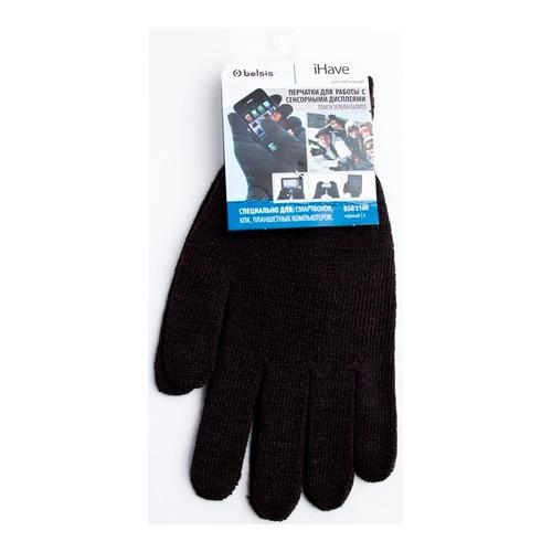 Перчатки Belsis для сенсорных устройств L Black