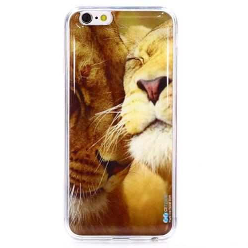 Накладка силиконовая IceTwice iPhone 6/6S Львы №217