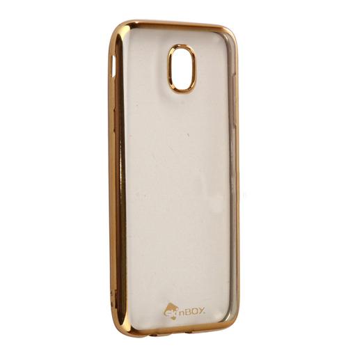 Накладка силиконовая skinBox chrome Samsung Galaxy J5 (2017) Gold