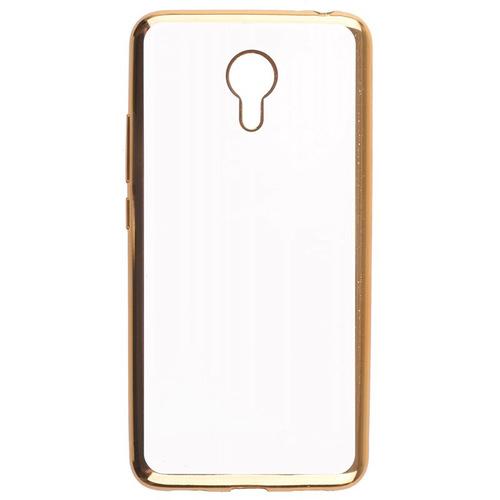 Накладка силиконовая skinBox chrome Meizu M3 Note Gold