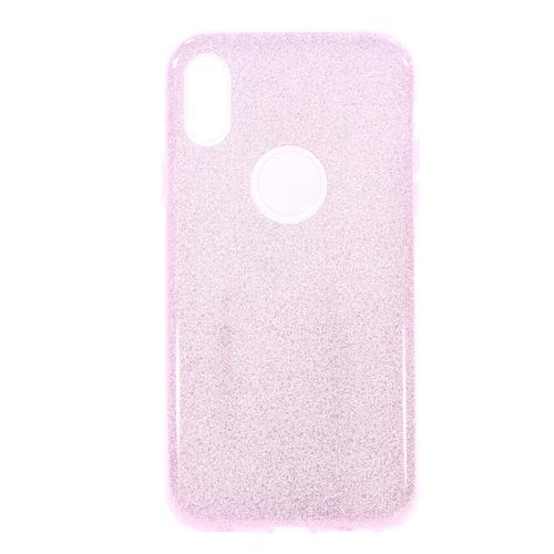 Накладка силиконовая Fashion Case Iphone X Shining 2 in 1 Pink