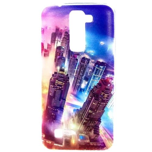 Накладка силиконовая Goodcase LG K7 Ночной город