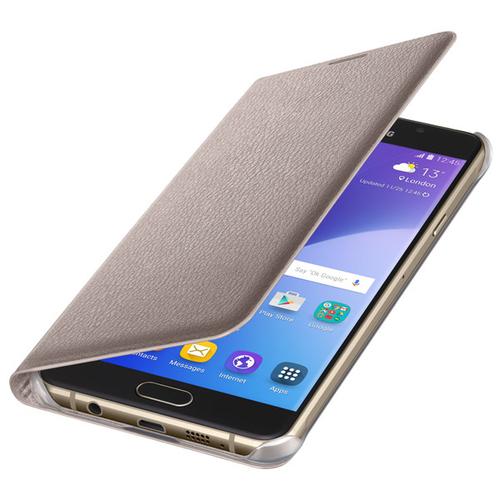 Чехол-книжка Samsung Flip Wallet Galaxy A7 (2016) (EF-WA710PFEGRU) Gold фото