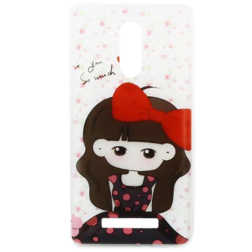 Накладка силиконовая Goodcase Xiaomi Redmi Note 3 Девочка с бантом