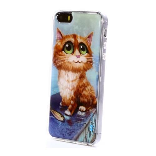 Накладка силиконовая IceTwice iPhone 5/5S/SE Котик №1003