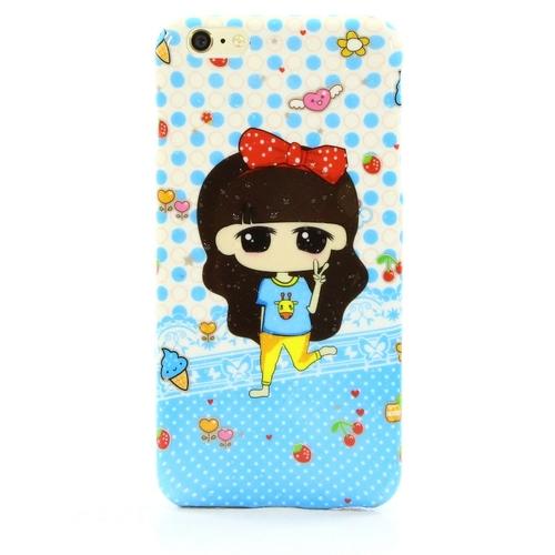 Накладка силиконовая iPhone 6 Plus Girls Blue (SDST)