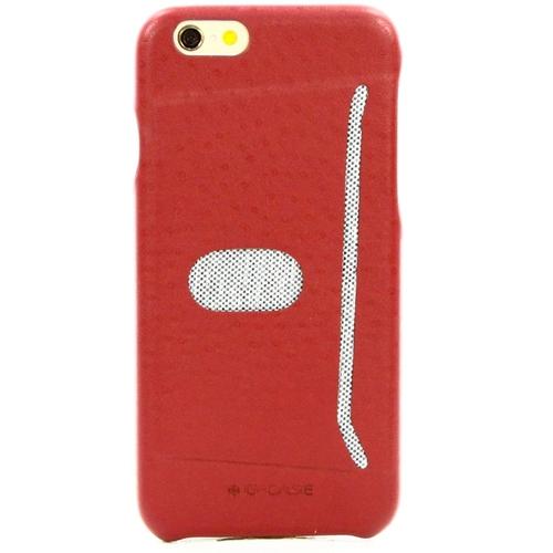 Накладка кожаная G-Case Good iPhone 6/6S с держателем для карт Red