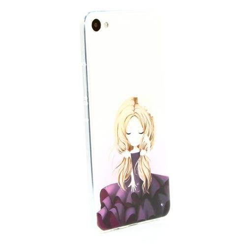 Накладка силиконовая Goodcase Meizu U20 Русая девочка