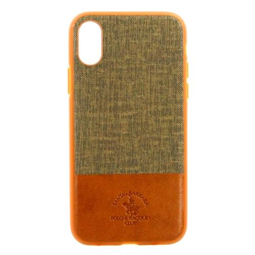 Накладка кожаная Polo Virtuoso для iPhone X Brown