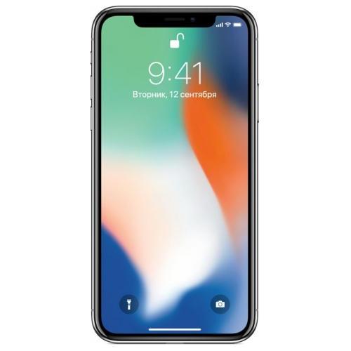 Телефон Apple iPhone X 64Gb Silver фото