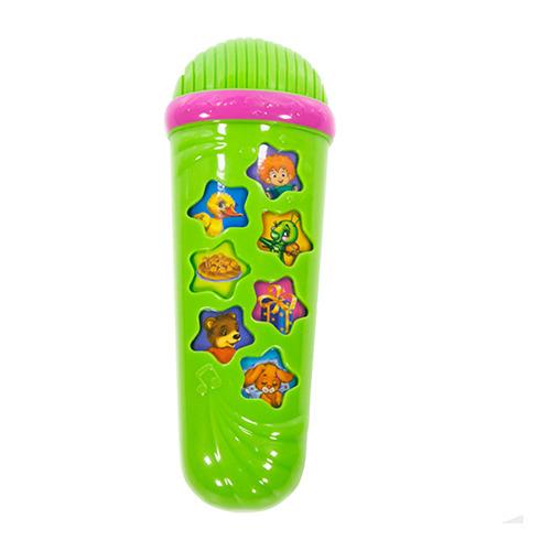 Микрофон-караоке зелёный