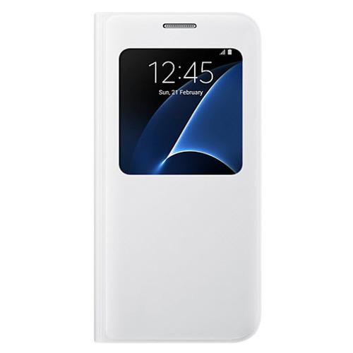 Чехол-книжка Samsung S View Galaxy S7 (EF-CG930PWEGRU) White