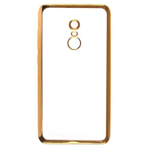 Накладка силиконовая skinBox chrome Xiaomi Redmi Note 4 Gold