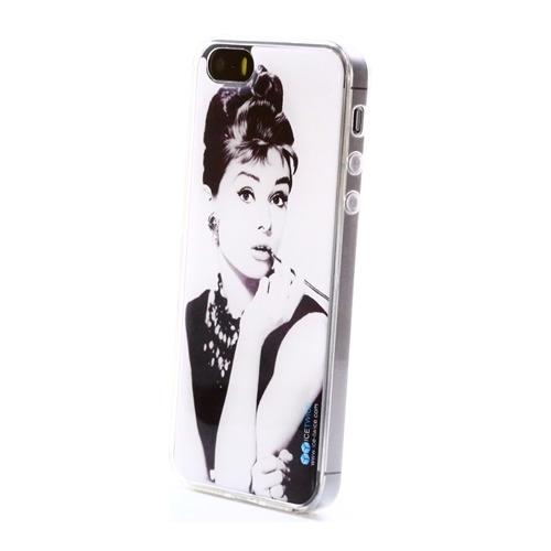Накладка силиконовая IceTwice iPhone 5/5S/SE Одри Хепбёрн №780