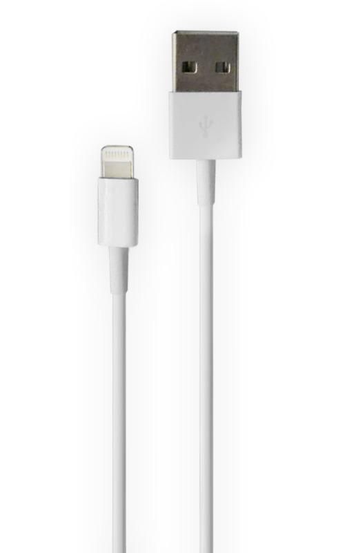 USB кабель Olmio Apple 8-pin 1м White