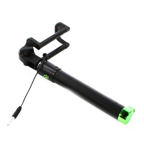 Монопод для селфи Goodcom LE1610 (со шнурком 3.5mm) Black/Green