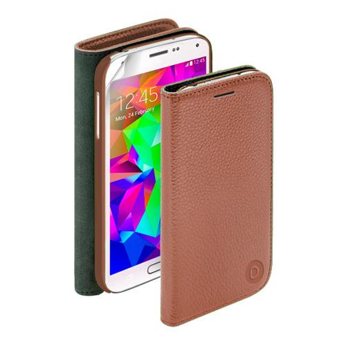Чехол-книжка Deppa Wallet Cover и защитная пленка на Samsung I9500 Galaxy S4 Brown