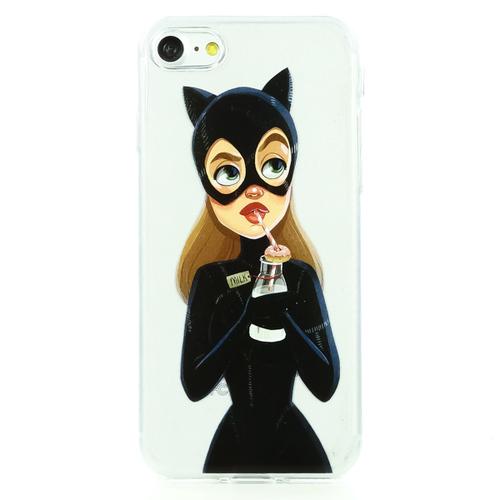 Накладка силиконовая BoraSCO ArtWorks iPhone 7/8 Cat Girl Blondie