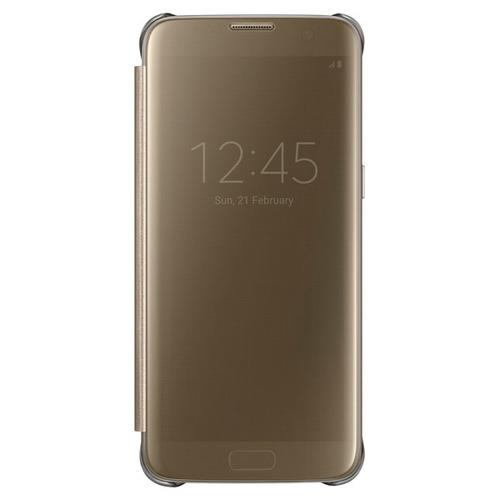 Чехол-книжка Samsung Clear View Standing Cover Galaxy S7 Edge (EF-ZG935CFEGRU) Gold