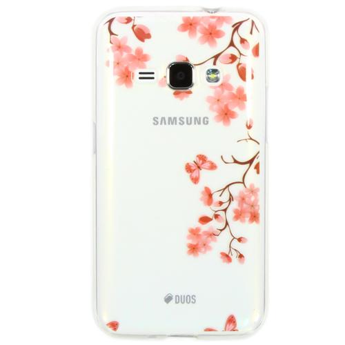 Накладка силиконовая Goodcase Samsung J1 (2016) Сакура