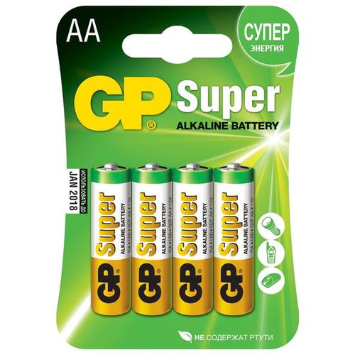 Батарея GP Super LR6 AA (блистер 4шт.) фото
