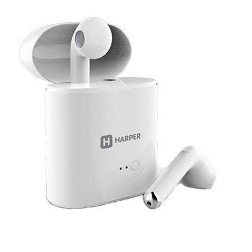 Bluetooth стереогарнитура Harper HB-508 вкладыши с кейсом White
