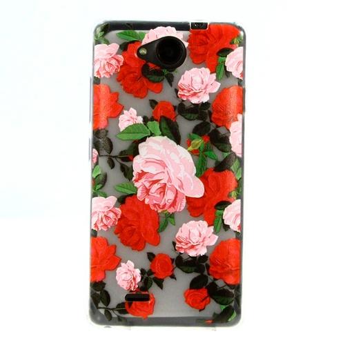 Накладка силиконовая Goodcase ZTE Blade GF3 Красные розы
