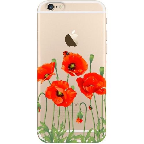Накладка пластиковая Deppa Art Case iPhone 6/6S Flowers Мак