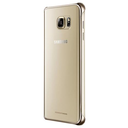 Накладка пластиковая Samsung Clear Galaxy Note 5 EF-QN920CFEGRU Gold
