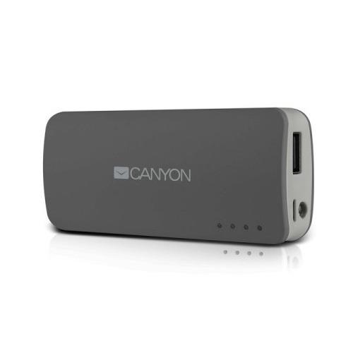 Внешний аккумулятор Canyon CNE-CPB100 10000 mAh Dark Grey