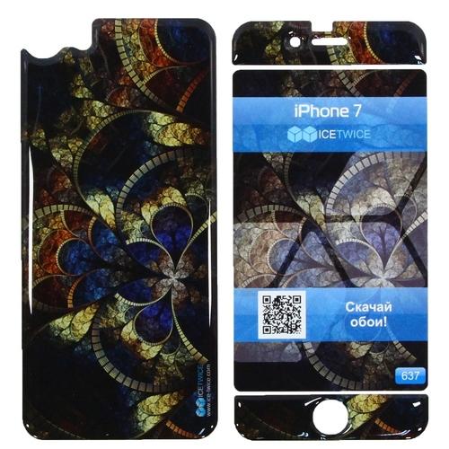 Наклейка силиконовая IceTwice iPhone 7 Мозаика №637