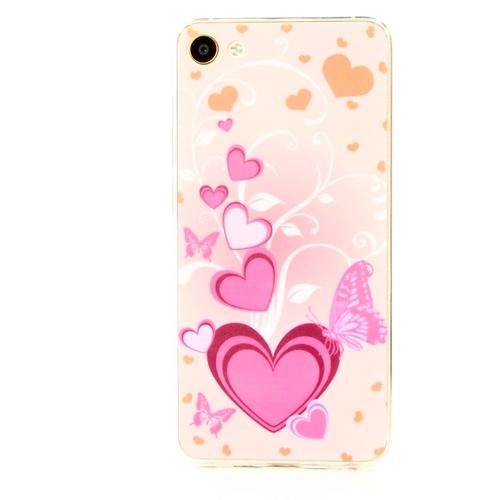 Накладка силиконовая Goodcase Meizu U10 Сердца