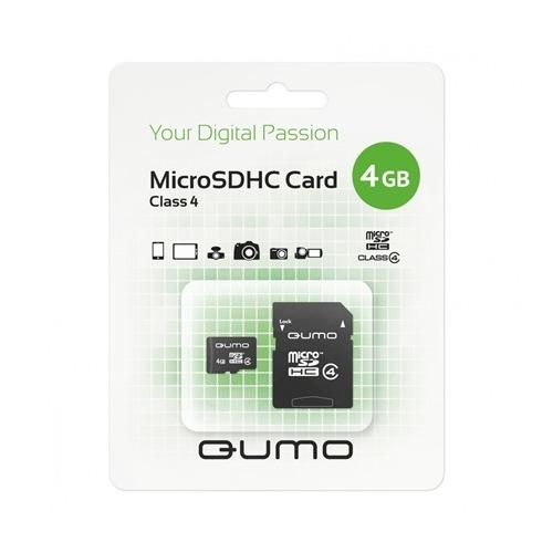 карта памяти Qumo microSD 4Gb (class 4)