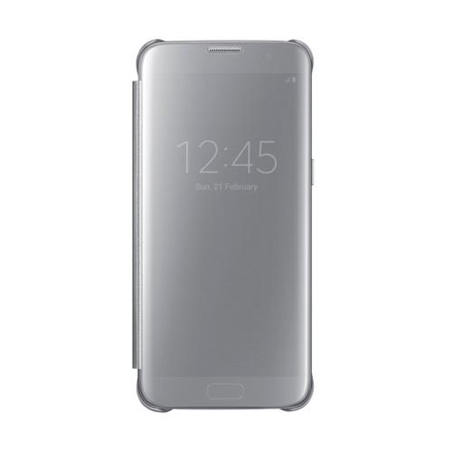Чехол-книжка Samsung Clear View Standing Cover Galaxy S7 Edge (EF-ZG935CSEGRU) Silver