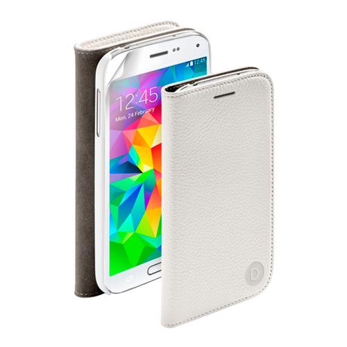 Чехол-книжка для Samsung G800F Galaxy S5 mini  Wallet Cover и защитная пленка , Deppa, белый