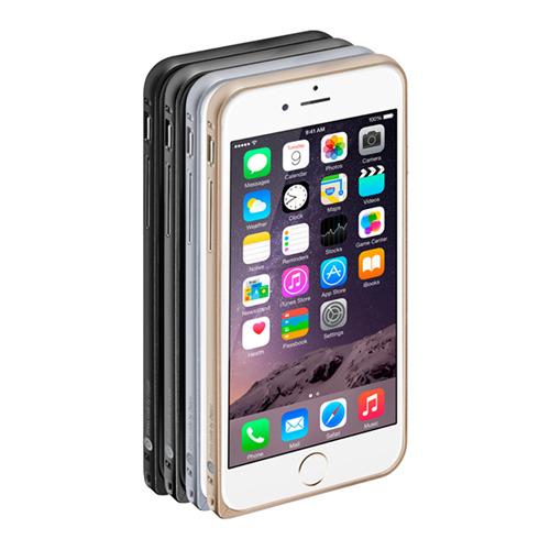 Бампер Deppa Alum для iPhone 6 и плёнка Gold