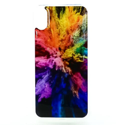 Накладка силиконовая IceTwice iPhone X Взрыв цвета  №1200