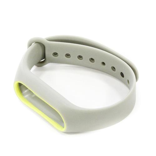 Ремешок Goodcom для фитнес-браслета Xiaomi Mi Band 2 Grey-Yellow