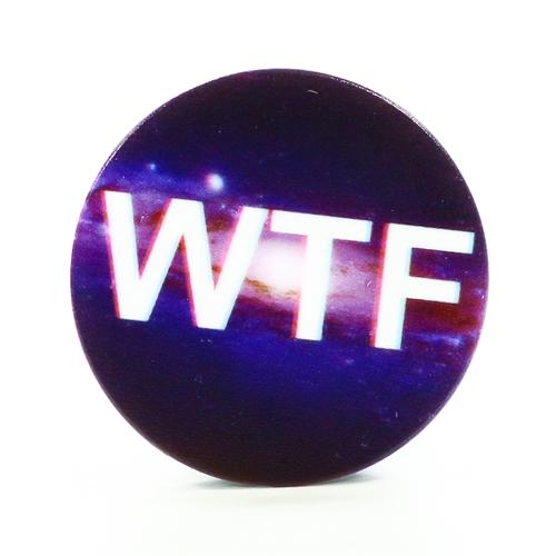 Попсокет для телефона WTF Black (Y189), Goodcom